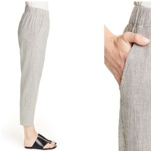 Eileen Fisher Tapered Stripe linen Cotton Blend